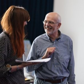 Director Andrew Hilton in rehearsals for LIVING QUARTERS